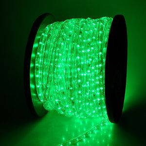 Holiday 150 ft Green Led Rope Light 2 Wire Round Decorative 110V Rope