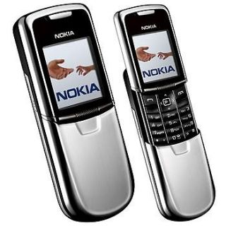 New Nokia 8800 Slide   Silver (Unlocked) GSM Mobile Phone