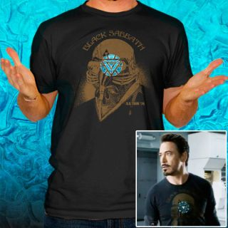 Black Sabbath Iron Man Tony Stark The Avengers US Tour 78 Arc T Shirt
