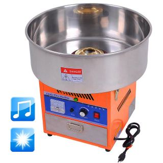 Upgraded 20 Orange Commercial Electric Cotton Candy Machine Floss