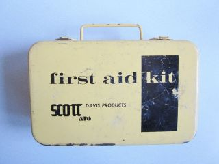 Vtg FIRST AID KIT AVIATION Scott Davis Products Wall Mount Kit Only
