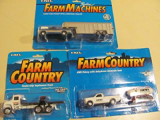 Country Ford 4WD PickUp with Ammonia Tank, Livestock Trailer & Truck