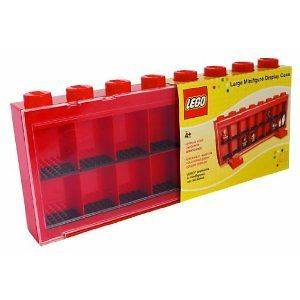 Lego Minifigure Display Storage Case   Large Red   Holds 16