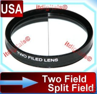 52mm Split Field Two Field Special Effects Lens Filter Different Depth