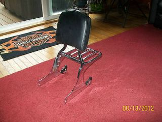 HARLEY  SOFTAIL FATBOY DETACHABLE BACKREST WITH RACK   NICE