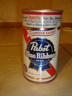 Blue Ribbon No Opener Needed Air Sealed Empty Straight Steel Beer Can