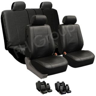 Covers W. 4 Headrests & Solid Bench Black (Fits GMC Sierra 1500 HD