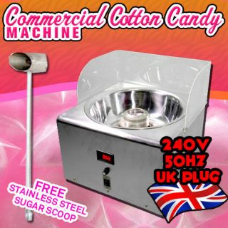 Extra Large Electric Cotton Candy Machine Commercial Floss Maker 240v