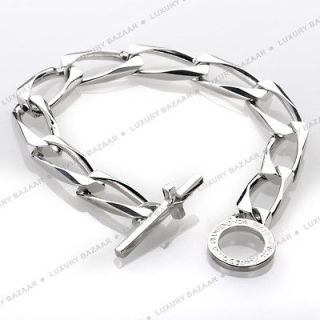 Pianegonda Silver Chain Link Cross Bracelet