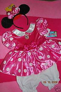 Toddler Girl Pink Minnie Mouse Costume Dress Size 2T EUC