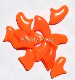 ORANGE Soft Nail Caps For Cat Claws * 4 Sizes to choose from * Purrdy