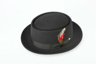 New Mens 100% Wool Pork Pie Hat All Sizes & Colors