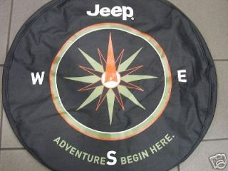 Brand new Jeep Spare tire cover with compass logo denim mopar