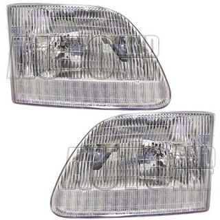 New Pair Set Headlight Headlamp Housing Assembly SAE DOT Ford