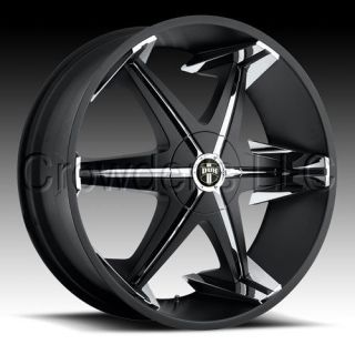 Dub Truck SUV Wheel Rim Big Homie Black 22 inch 5 Lug