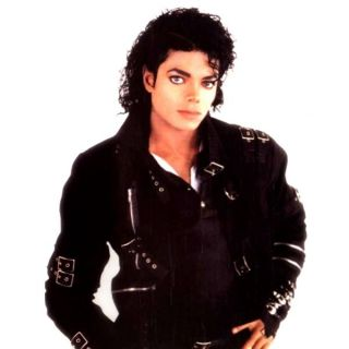 Michael Jackson Bad Buckle Jacket Black Deluxe Halloween Adult Costume