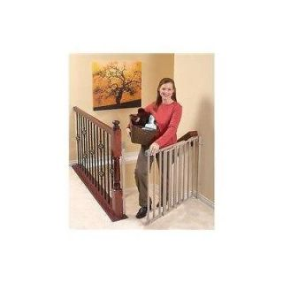 Secure Step Top of Stairs Gate, Taupe Quality Dog or Baby Gate EVENFLO