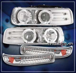 99 02 CHEVY SILVERADO/00 0​6 TAHOE SUBURBAN HALO LED PROJECTOR HEAD