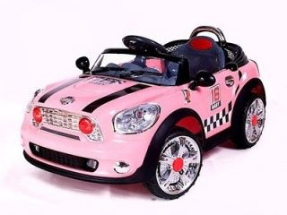 Kids Ride On Power 2 Motor Cooper Style Wheels Super Mini Car Remote