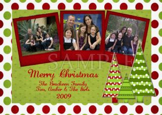 Custom Personalized Photo Christmas Greeting Cards