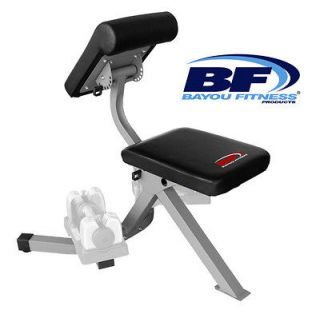 NEW Bayou Fitness Adjustable Multi Use Dumbbell Preacher Curl Weight