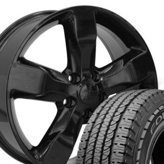 20 Jeep Grand Cherokee Black Wheels Set of 4 OEM 9107 Rims Goodyear