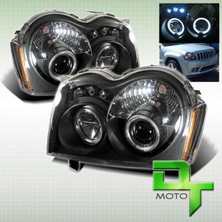 05 07 JEEP GRAND CHEROKEE LED TWIN ANGEL EYES HALO PROJECTOR