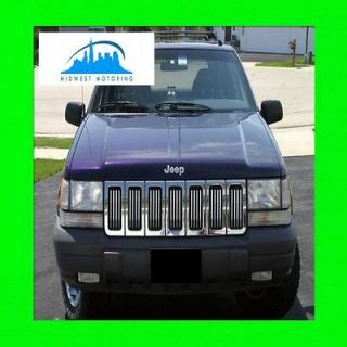 1993 1998 JEEP GRAND CHEROKEE CHROME TRIM FOR GRILL GRILLE 5YR