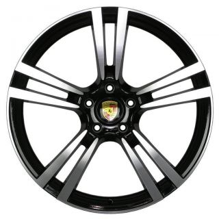 TURBO II STYLE WHEELS 5X130 +45MM RIM FITS PORSCHE CAYENNE S 2004 2012