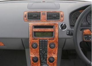 VOLVO S40 V50 INTERIOR WOOD ALUMINUM CARBON DASH TRIM KIT SET 2005 05