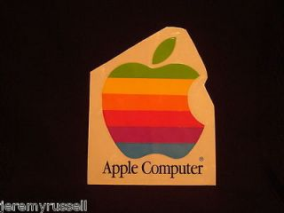 Vintage Apple Computer Rainbow Logo 4 Inch Sticker Decal NEW OLD STOCK