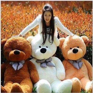 HOTGIANT 80 BIG PLUSH TEDDY BEAR HUGE SOFT 100% COTTON TOY*3 colors