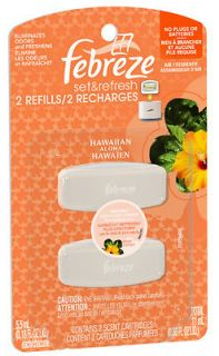 Febreze, 4 Count, Hawaiian Aloha, Set & Refresh Refill