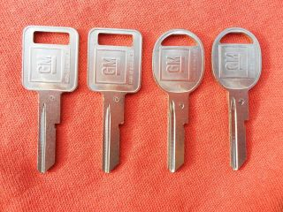 CHEVY BUICK PONTIAC OLDS OEM KEY BLANKS 68 72 76 80 87 88 89 90
