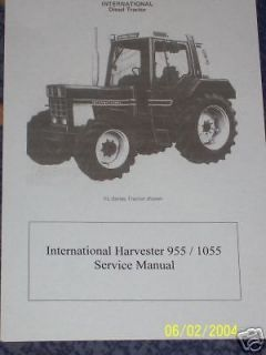 INTERNATIONAL HARVESTER 955 1055 SERVICE
