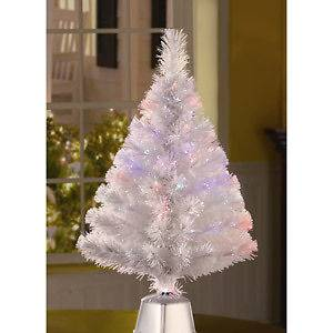 FIBER OPTIC CHRISTMAS TREE ~ MULTI COLOR LIGHTS CHANGE CONTINUOUSLY