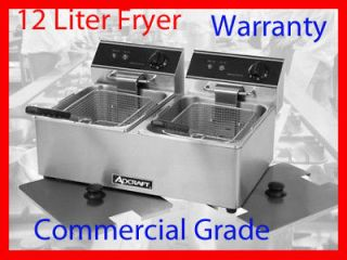 Adcraft DF 6L/2 Commercial Electric Deep Fryer & COVERS