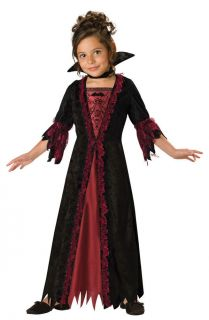 New Girls Cute Victorian Vampire Halloween Costume