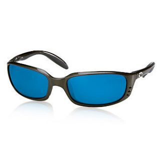 COSTA DEL MAR BRINE SUNGLASSES. BLACK. BLUE MIRROR LENS.