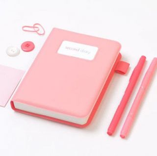 Second Diary/Daily planner for Any year Indi Pink color + Felt Pouch