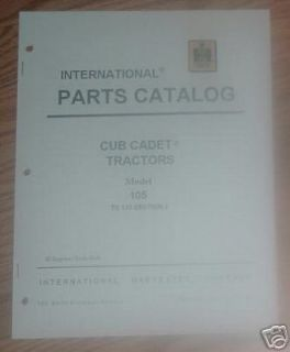 CUB CADET 105 TRACTOR & ENGINE ILLUSTRATED PARTS LIST MANUAL