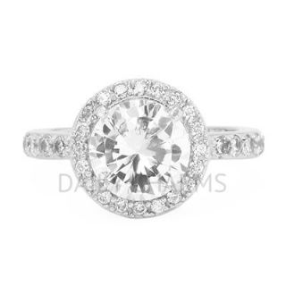 Cubic Zirconia Round Cut Promise Wedding Engagement Ring .925 Sterling