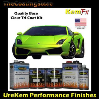 Lime Green Pearl TriCoat Tri Coat 3 Stage Custom Auto Car Paint Kit