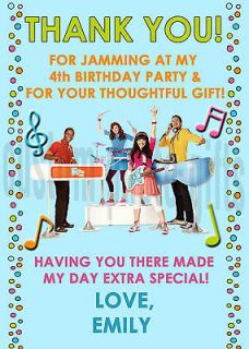 Beat Band Personalized Birthday Thank You Card Digital File, You Print