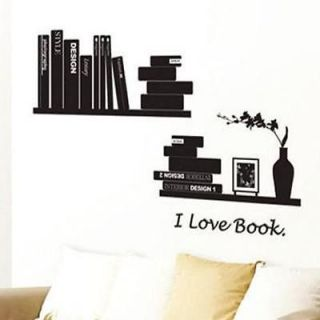 2012newI Love Reading Book Books Wall Sticker Decor Decals Vinyl Art