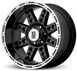 18 XD XD766 DIESEL Wheels & TIRES Black OFFROAD RIMS