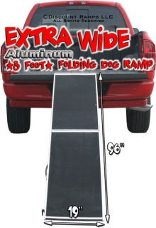 Newly listed 8 EXTRA WIDE FOLDING DOG RAMP ALUMINUM HUNTING RAMPS (DR