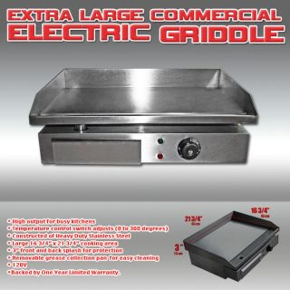 Commercial Electric Griddle 120v We Ship Worldwide DHL Make Money