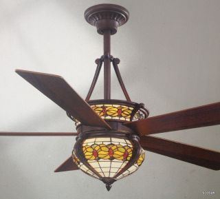 NEW 52 Hampton Bay Studdart Ceiling Fan by Dale Tiffany with Remote