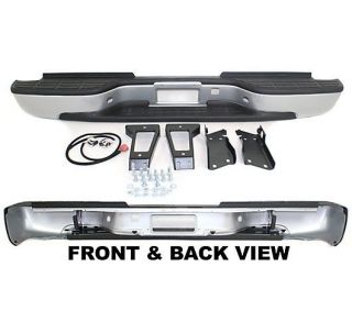 New Step Bumper Rear Primered Full Size Truck Chevy Chevrolet Heavy